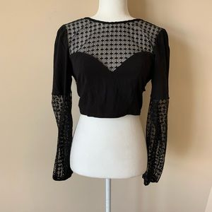 Free People intimately sheer lace crop top #878